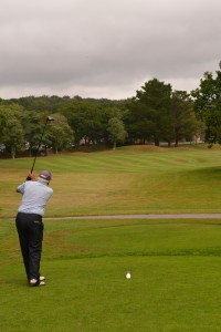 018 - Straight down the middle for eventual Senior's Winner Richard Brown